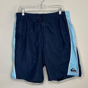 Quicksilver Men's Blue Swim Trunks Size Large
